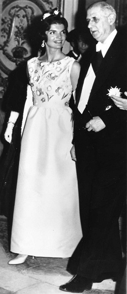 First Lady Jacqueline Kennedy and President of France Charles de Gaulle