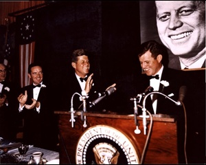 President Kennedy introducing Senator Kennedy