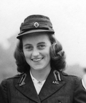PC309  Kathleen Kennedy in her American Red Cross uniform, London, circa 1943.