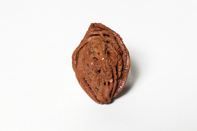 carved peach pit portrait of john f kennedy jfk library