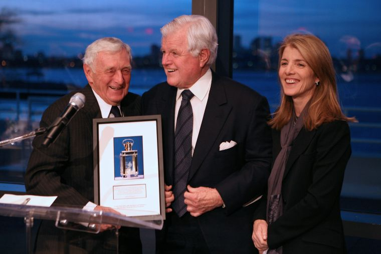 Senator Kennedy and Caroline Kennedy honor John Seigenthaler for his years of service as PICA Committee Chair.