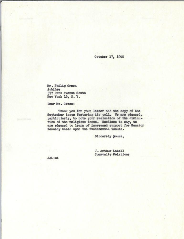 Correspondence: G (6 of 9 folders) | JFK Library