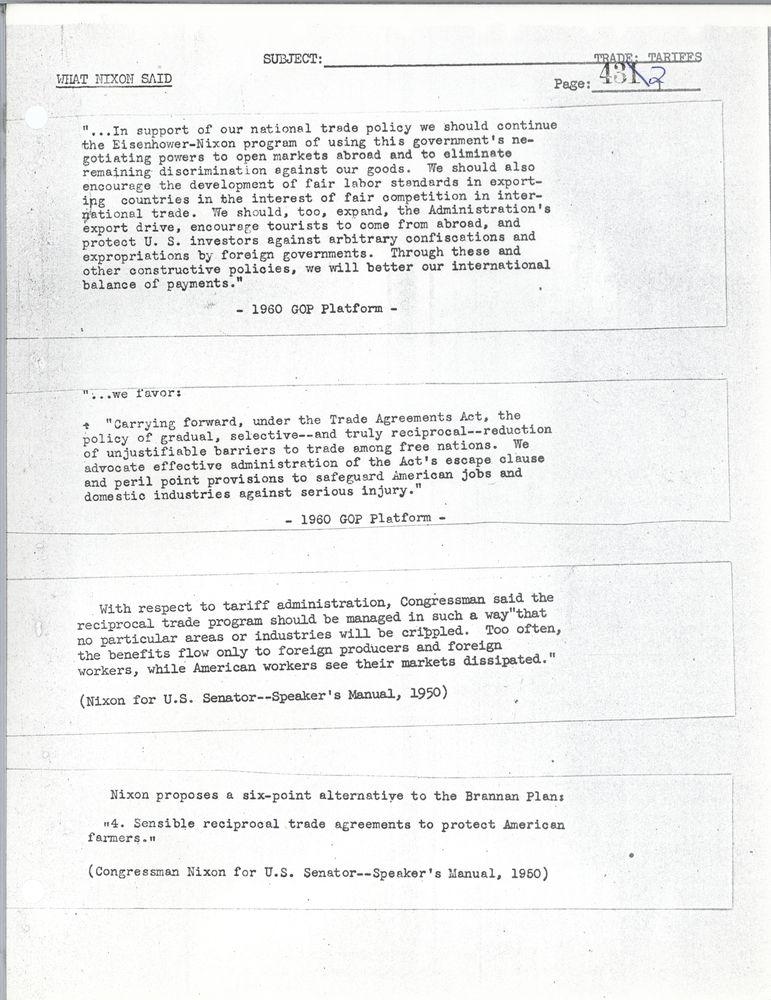 What Nixon Said A Collection Of His Public Utterances 1946 1960