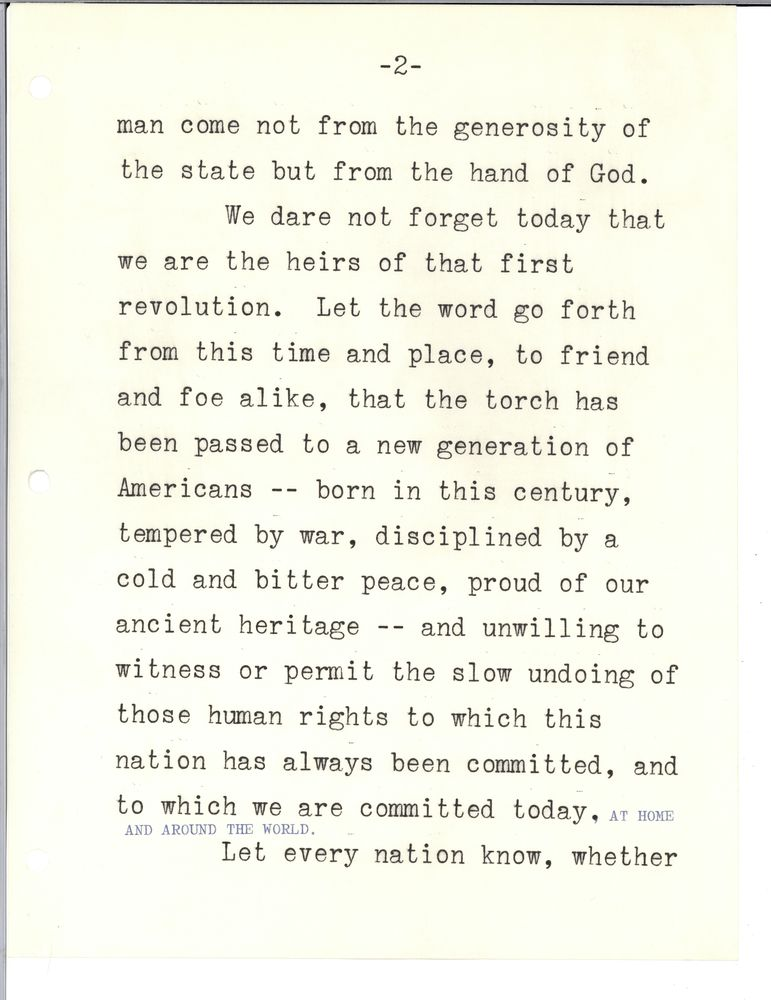 inaugural address john f kennedy presidential  inaugural address 20 1961 john f kennedy presidential library museum