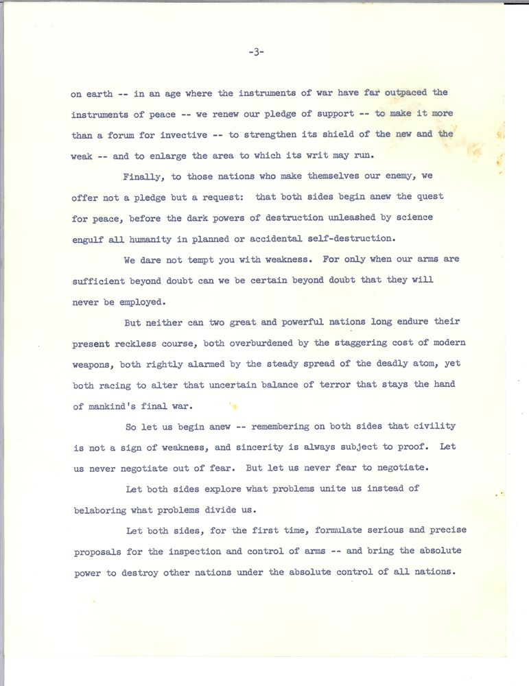 john f kennedyís inaugural address essay John f kennedy's inaugural address essay sample  president john f kennedy's inaugural address was debatably one of the most memorable and quoted addresss of .