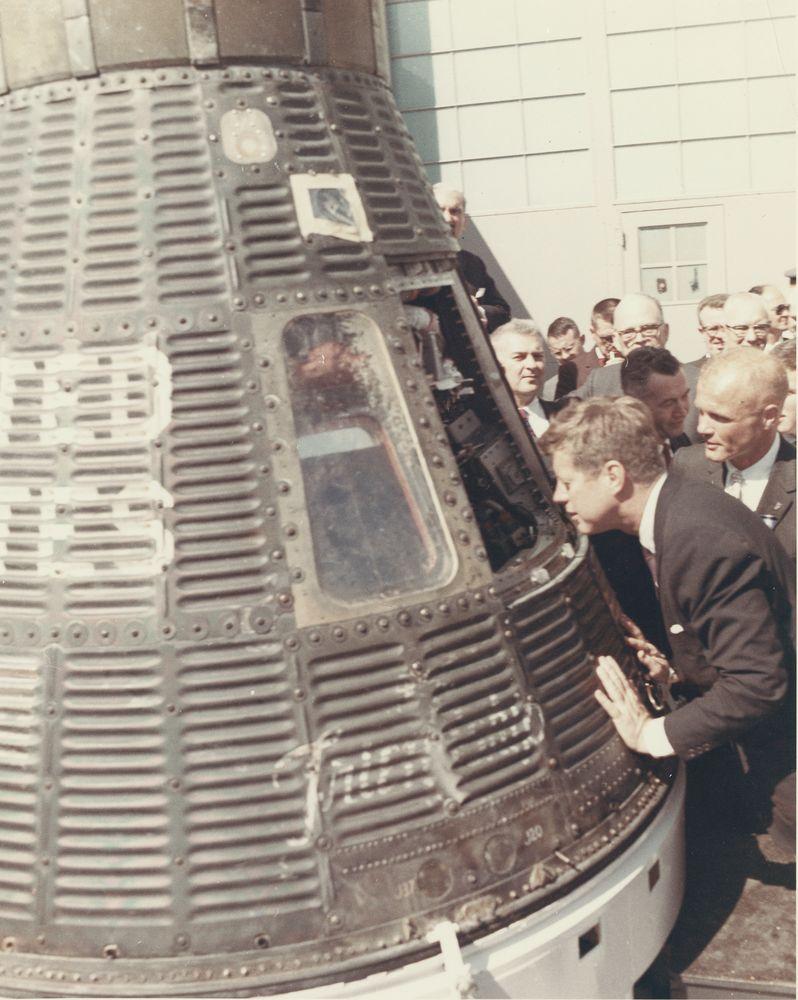 Photograph, President John F. Kennedy and Astronaut John ...