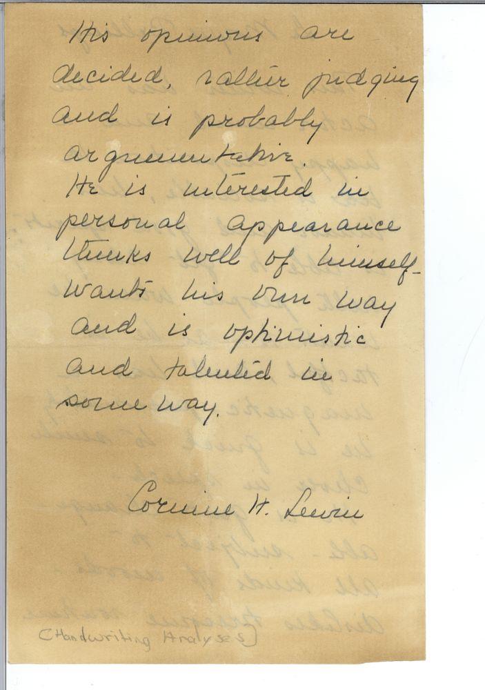 handwriting analyses