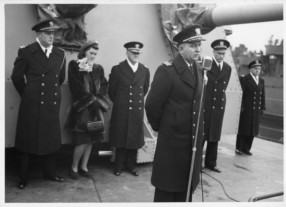 Photograph, Commissioning Ceremony for the USS Joseph P. Kennedy, Jr ...