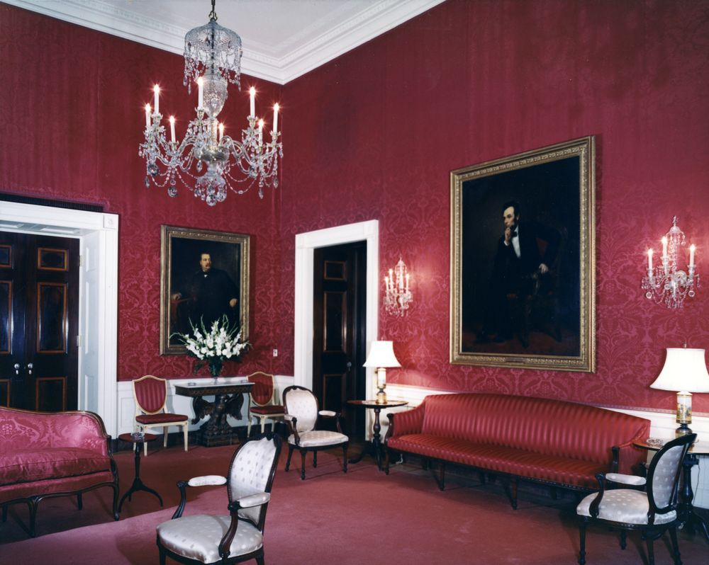 Red Rooms Knc16087Red Room White House  John Fkennedy Presidential
