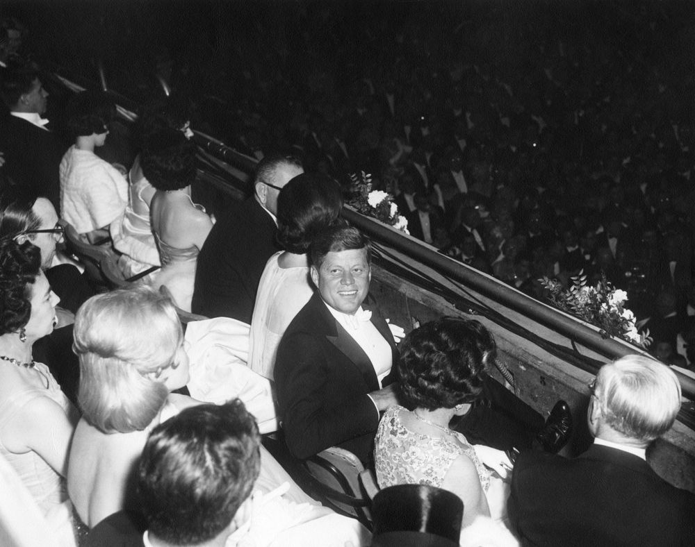 ar e president john f kennedy and guests observe inaugural ar6281 e president john f kennedy and guests observe inaugural ball proceedings