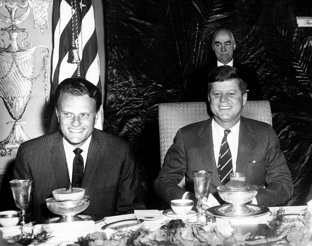 ar a reverend billy graham and president john f kennedy at ar6334 a reverend billy graham and president john f kennedy at prayer breakfast