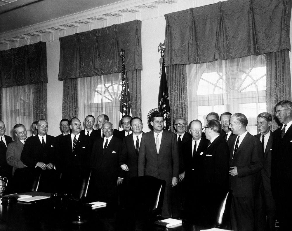 AR6404-A. President John F. Kennedy Meets with Radio Free Europe ...