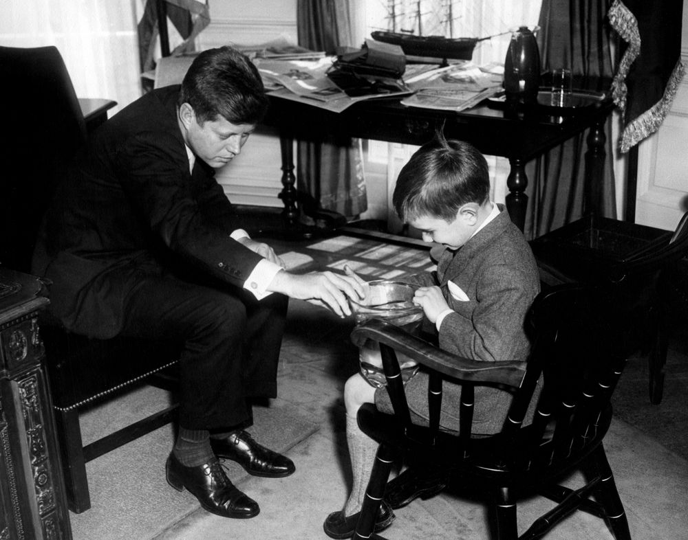 AR6420-A. President John F. Kennedy with Robert F. Kennedy, Jr. - John ...