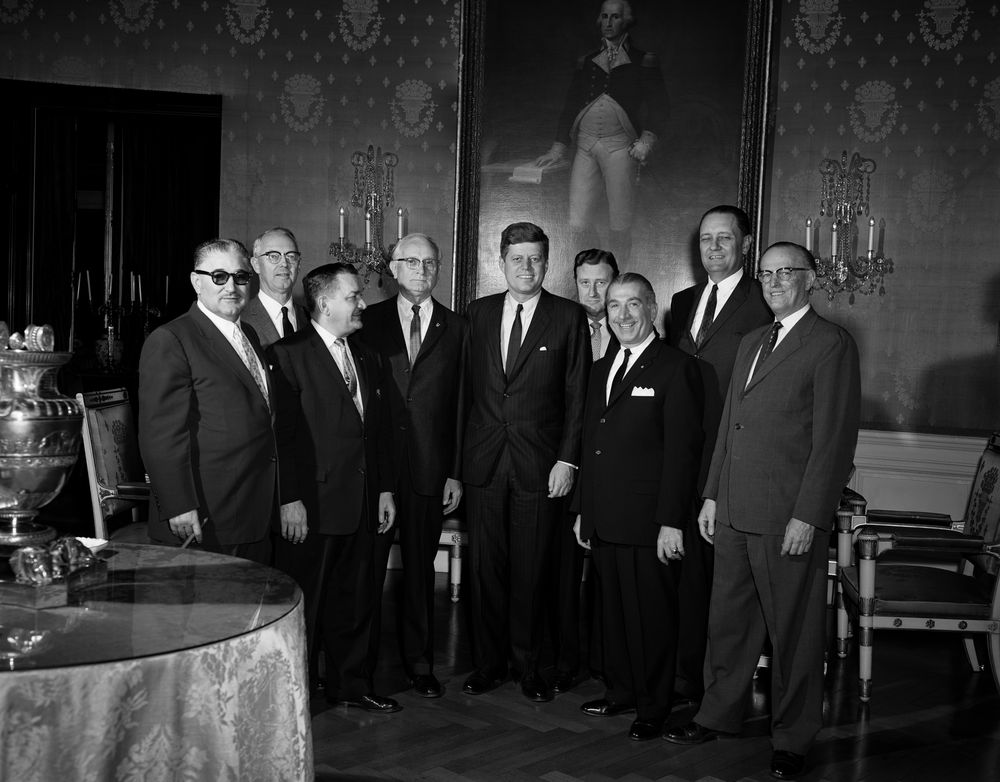 Kennedy attends congressional coffee hour house of representatives