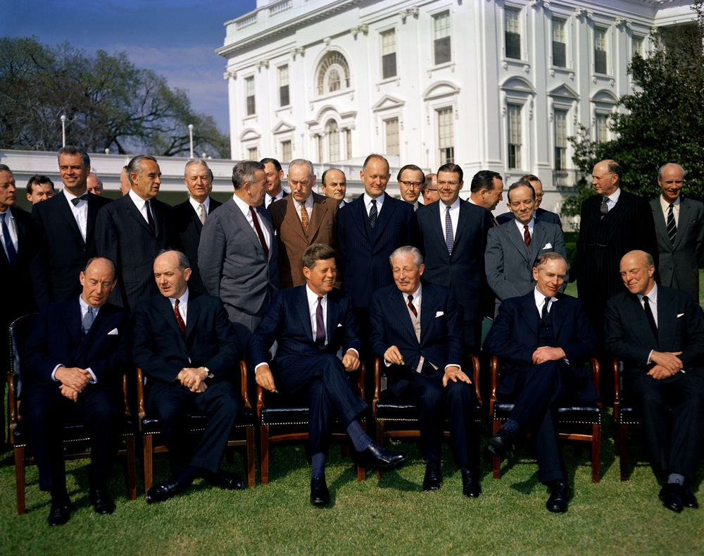 KN-C17424. President John F. Kennedy and Prime Minister of ...