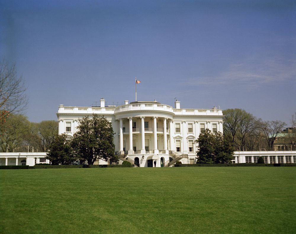 Kn c17427 white house exterior john f kennedy for The white housse