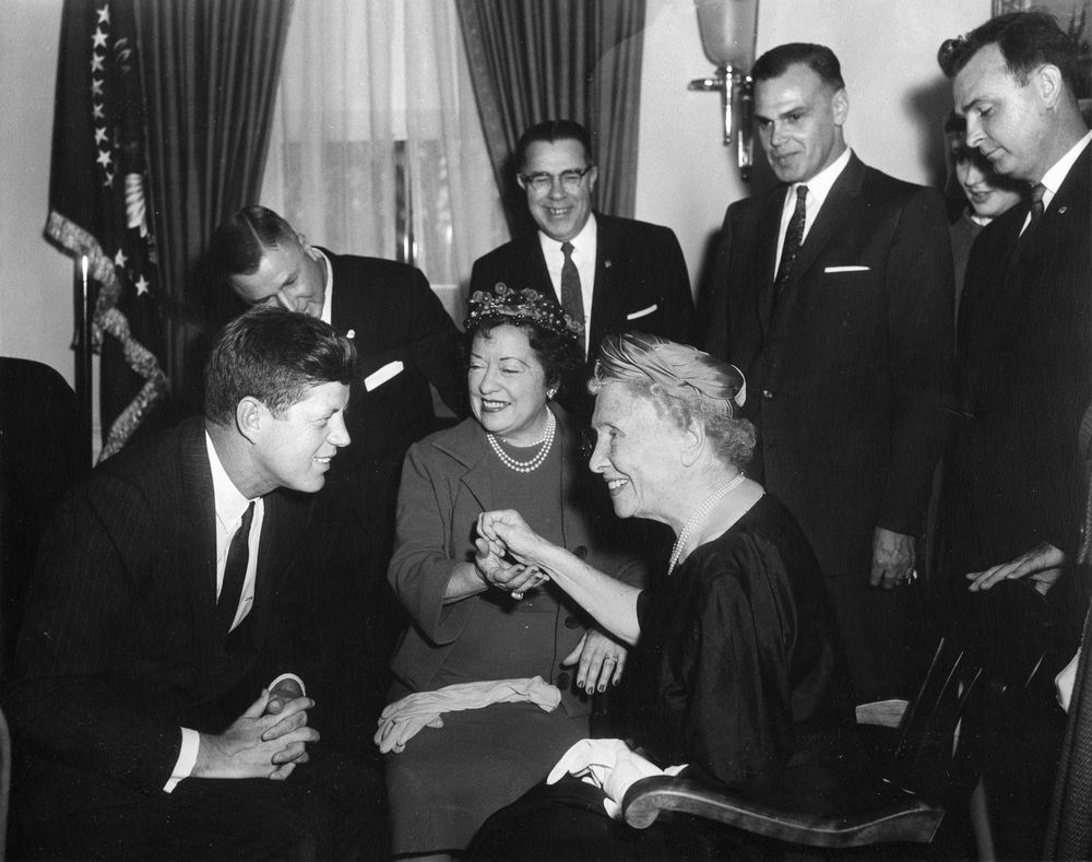 AR6490-A. President John F. Kennedy Meets with Helen ...