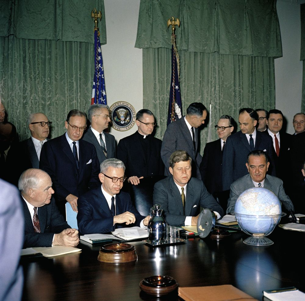KN-C17491. President John F. Kennedy and Vice President Lyndon B ...