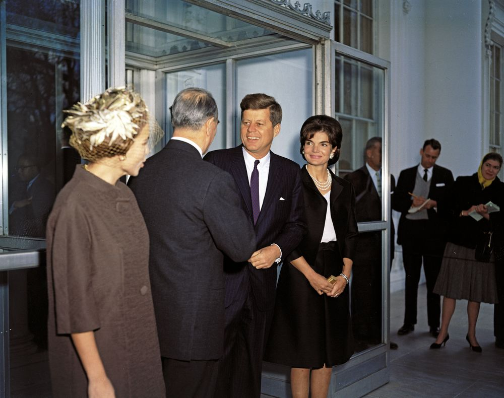 John F. Kennedy and First Lady Jacqueline Kennedy with Prime Minister ...