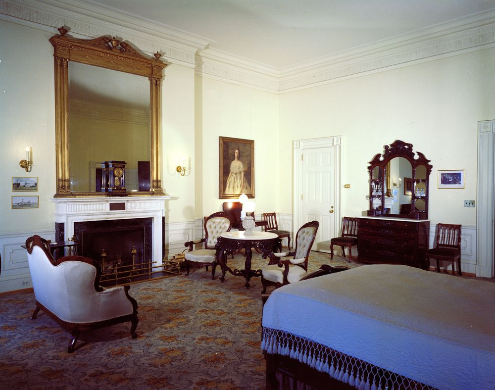 white house rooms lincoln bedroom john f kennedy presidential library museum. Black Bedroom Furniture Sets. Home Design Ideas