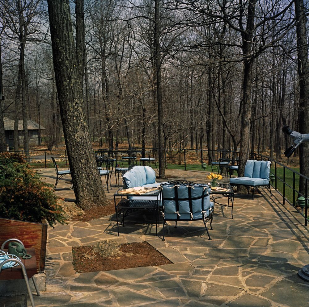 camp david views john f kennedy presidential library museum. Black Bedroom Furniture Sets. Home Design Ideas
