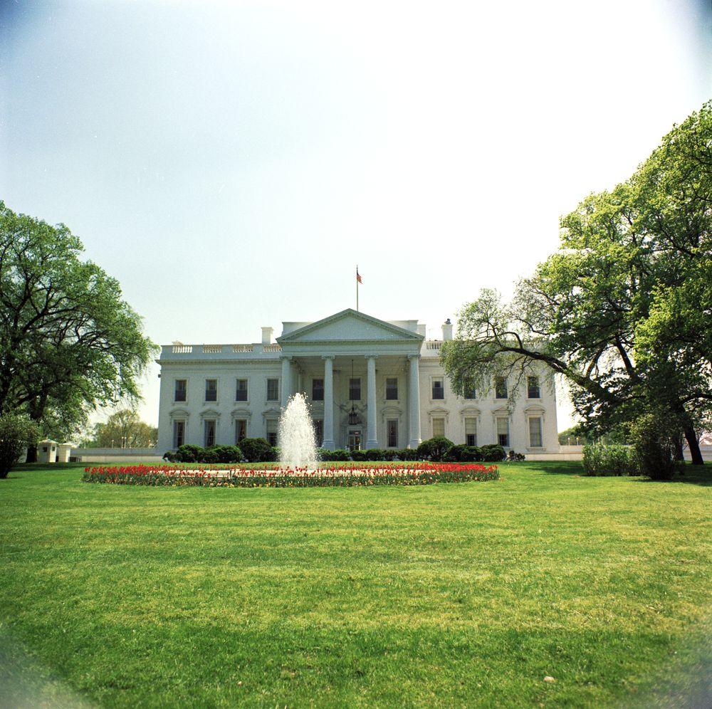 Kn c17655 white house exterior john f kennedy for White house exterior