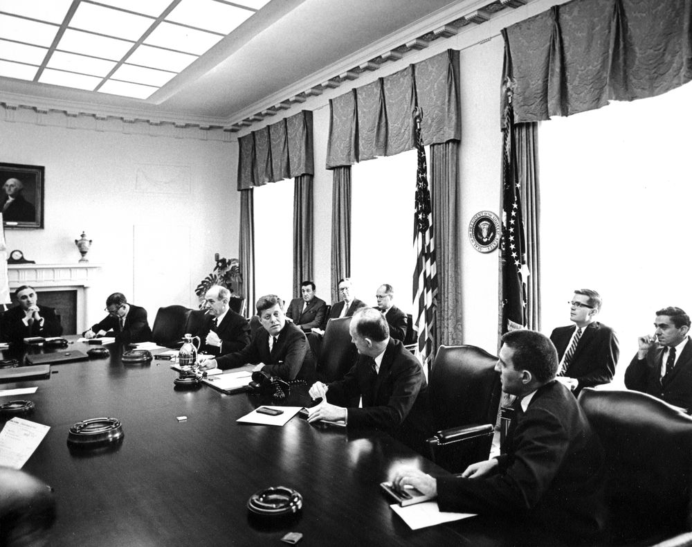 AR6613-A. President John F. Kennedy and Others Attend ...
