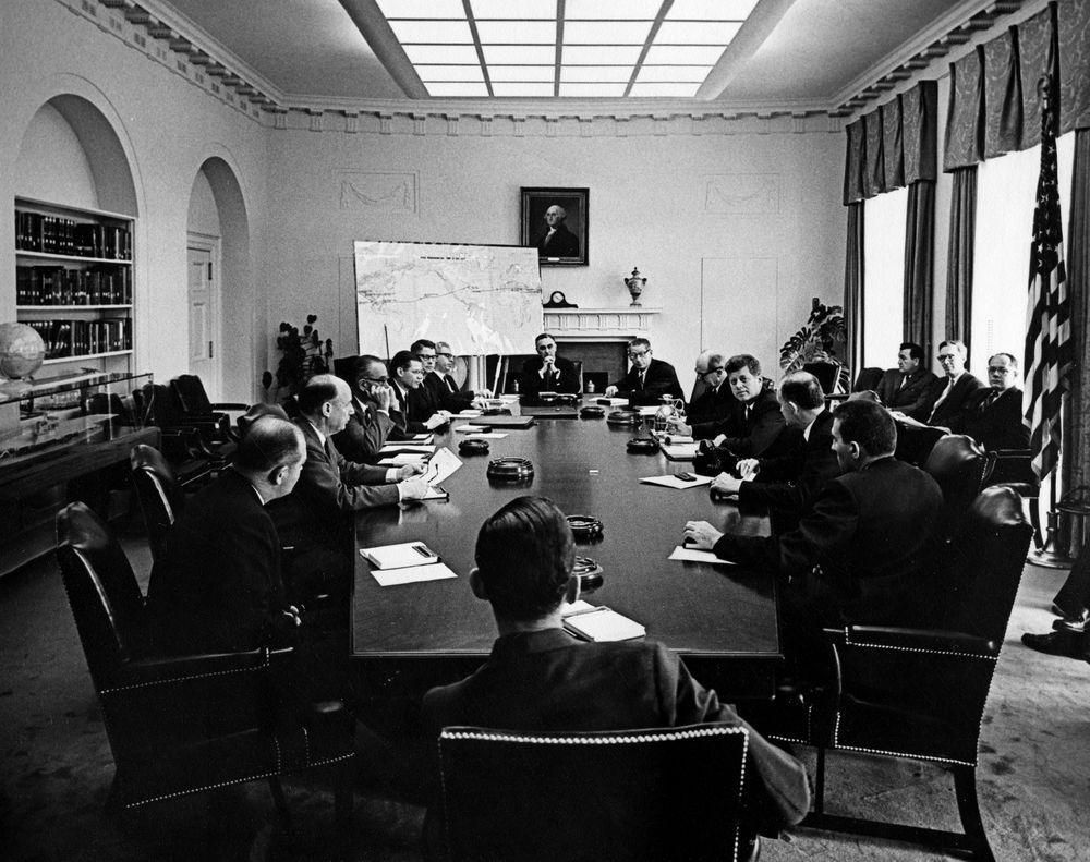 AR6613-B. President John F. Kennedy, Vice President Lyndon B ...