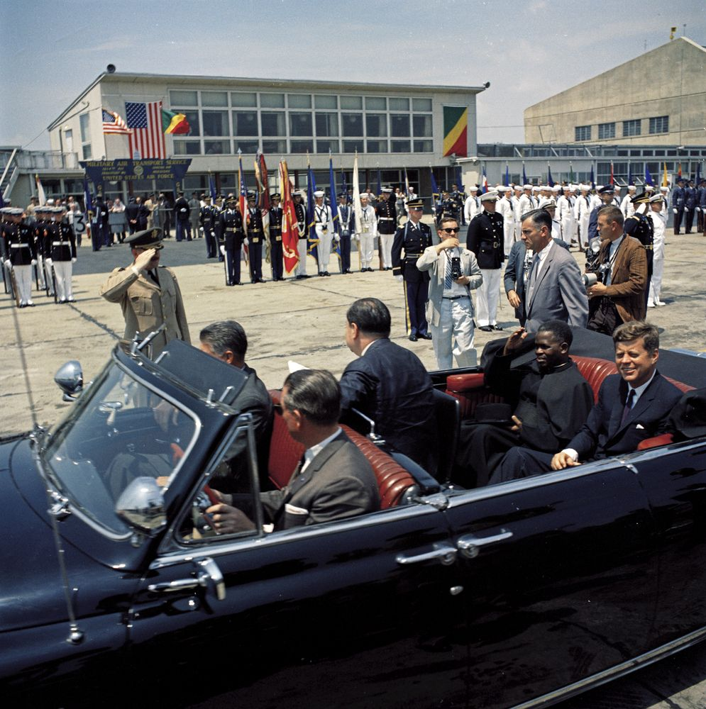 St A12 4 61 President John F Kennedy And Fulbert Youlou