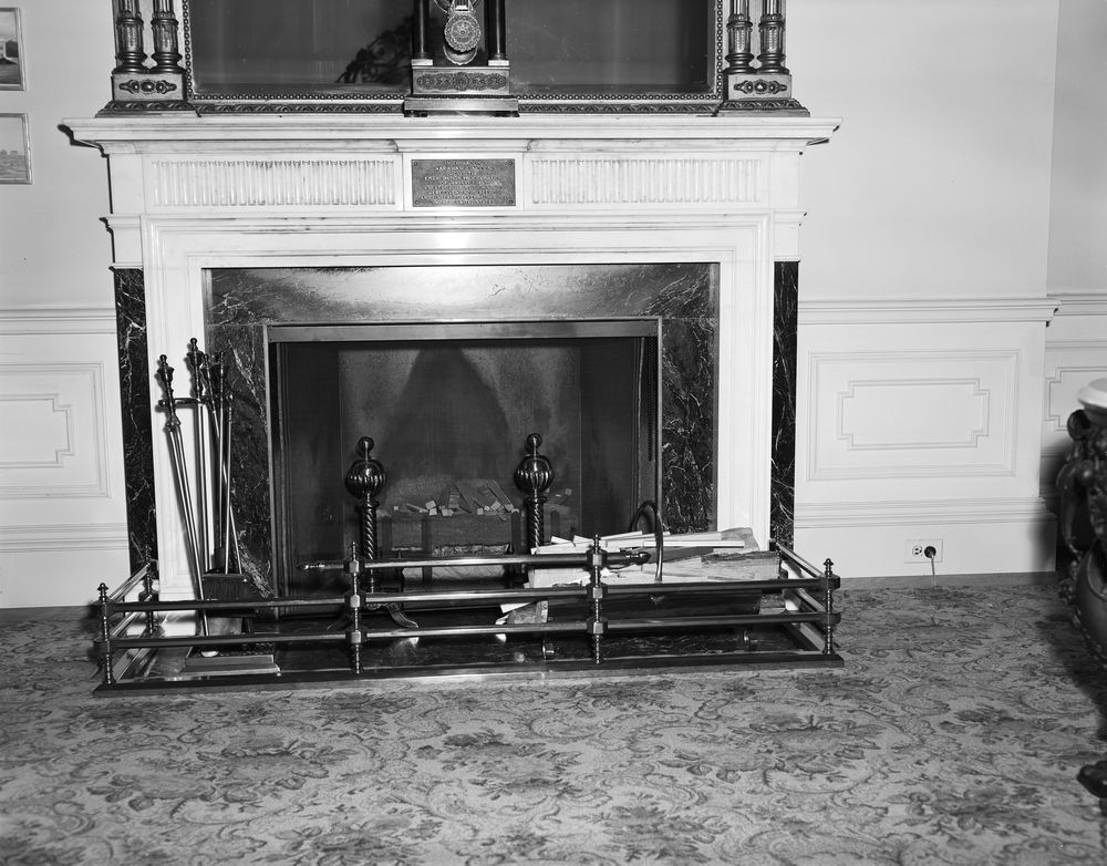 KN-18177. White House Furnishings: Fireplace and Tools - John F ...