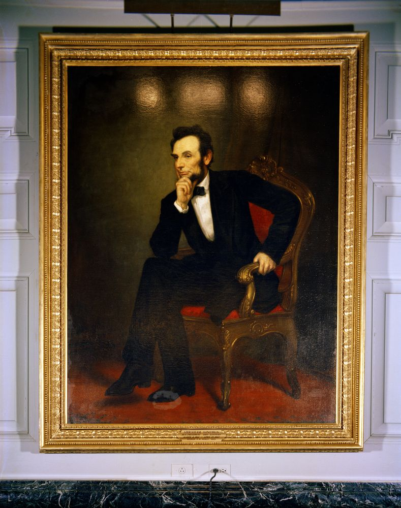 KN-C18103. White House Painting: Portrait of President Abraham Lincoln ...