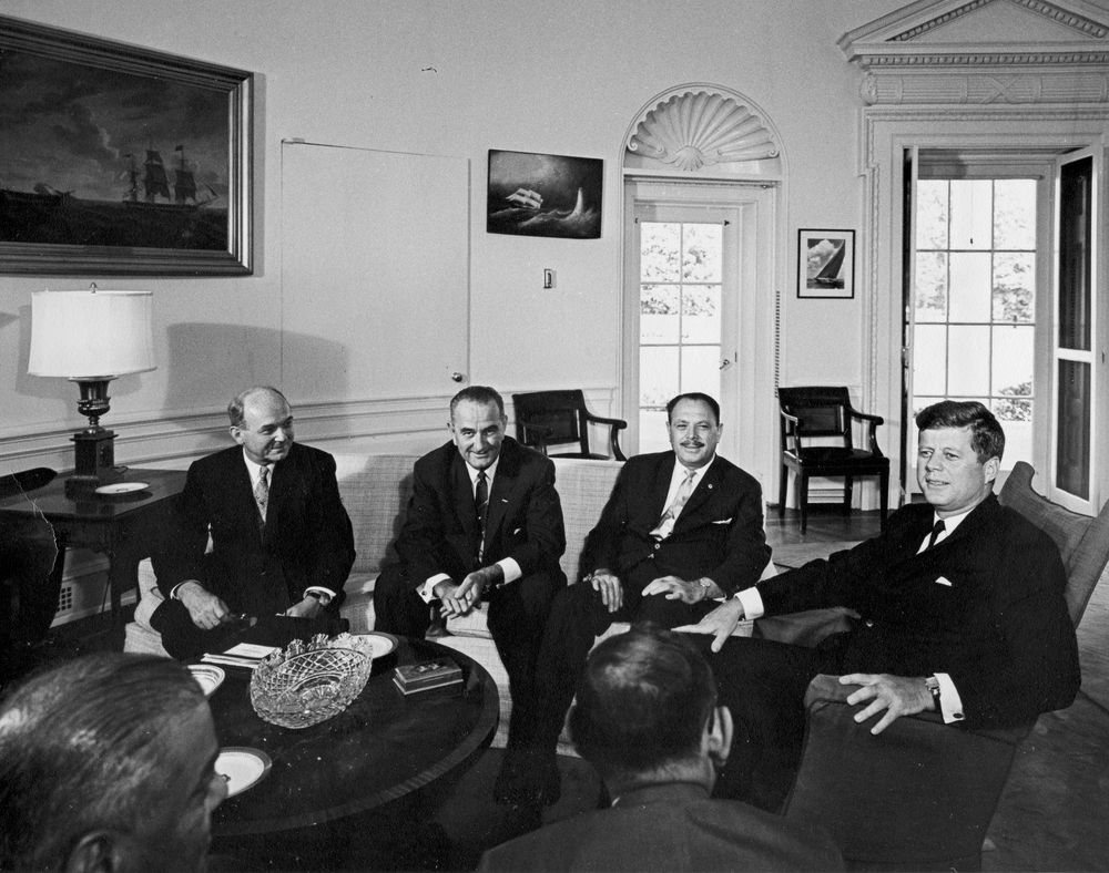 President John F. Kennedy Meets with Mohammad Ayub Khan, President of Pakistan
