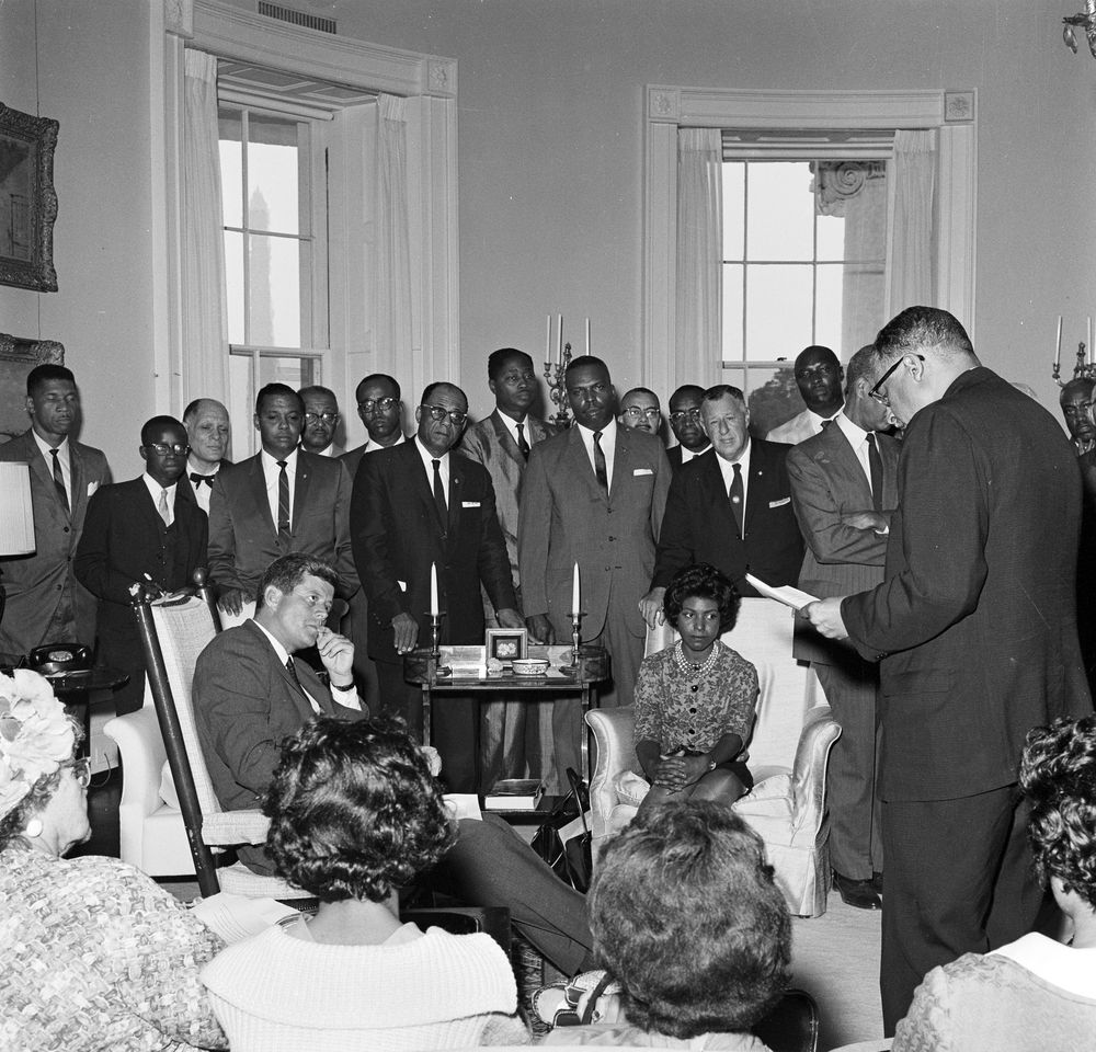 Kn 18354 President John F Kennedy Meets With National