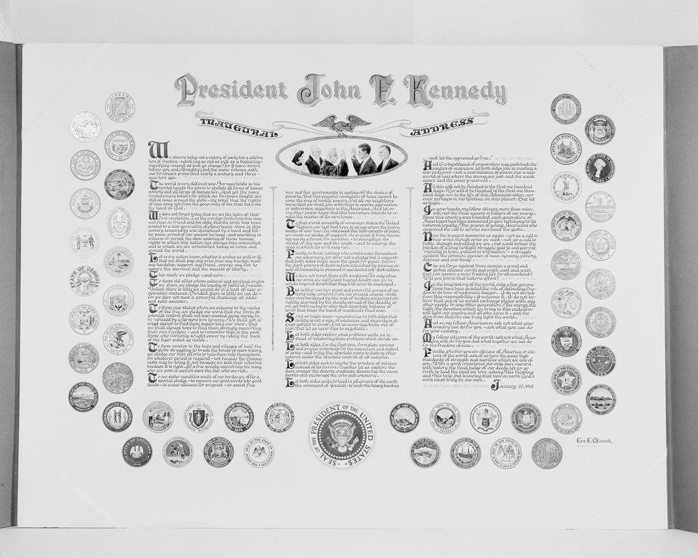 jfk inaugural address essay best images about rhetoric jfk  gift for president kennedy printed text of the inaugural address view parent collection and finding aid
