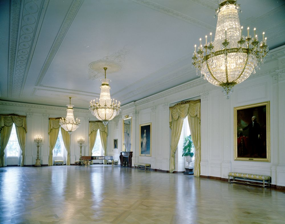 KN-C18666. East Room, White House - John F. Kennedy Presidential ...