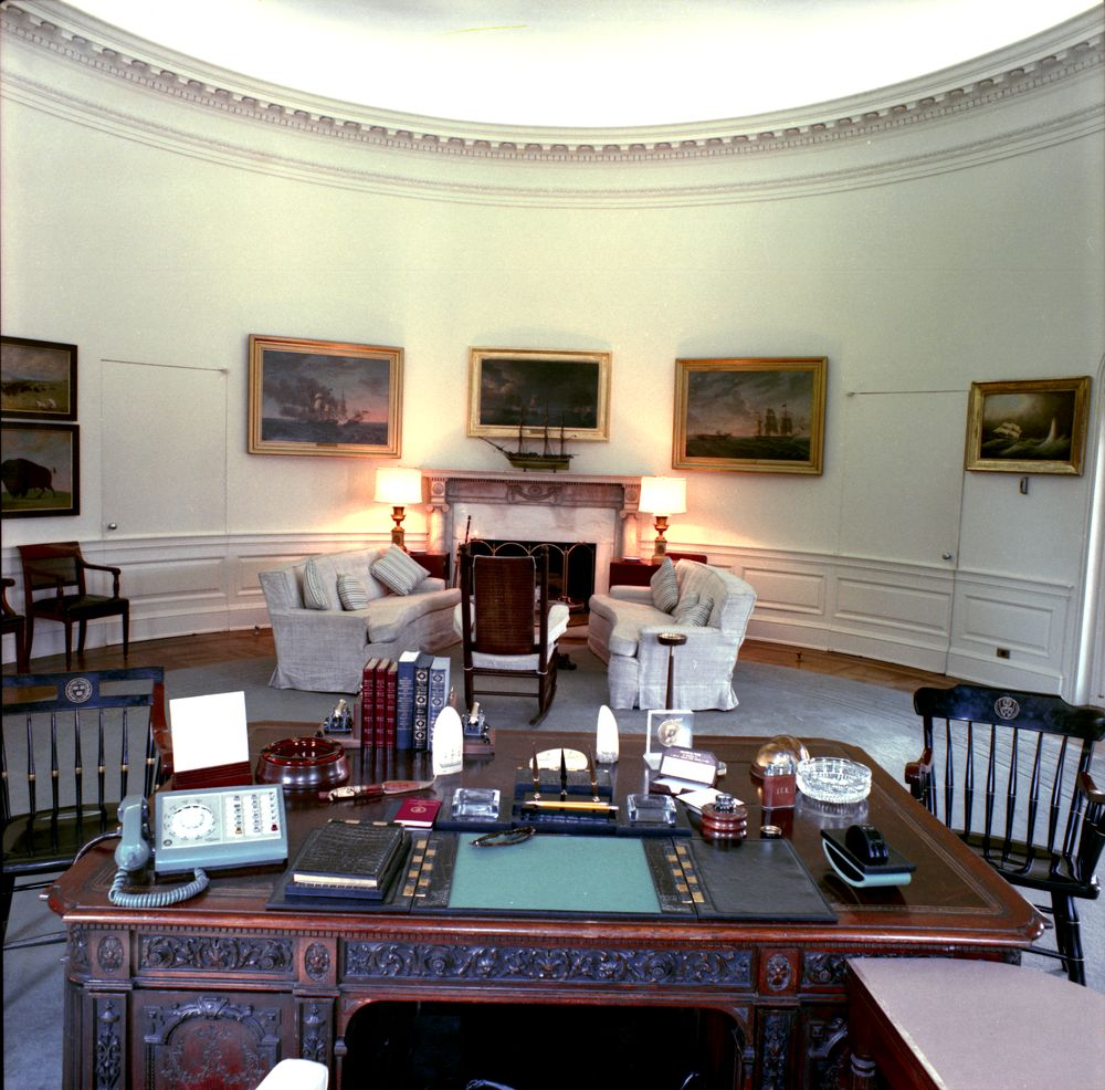 jfk in oval office. KN-C18712-A. Oval Office Jfk In T