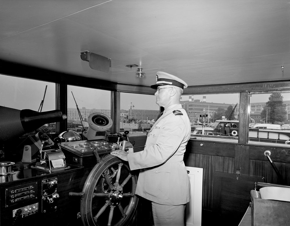 yacht honey fitz berthed at washington navy yard  interior