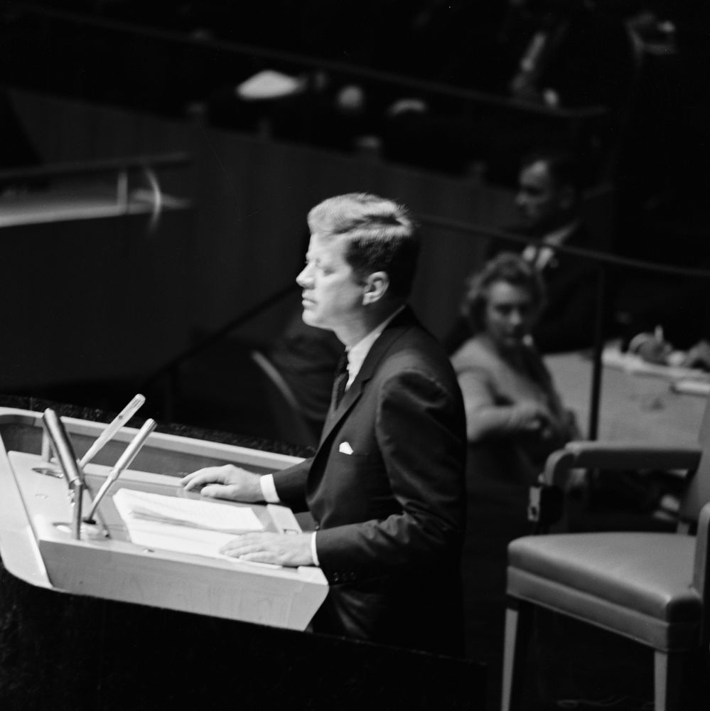 Image result for president kennedy un general assembly 1961