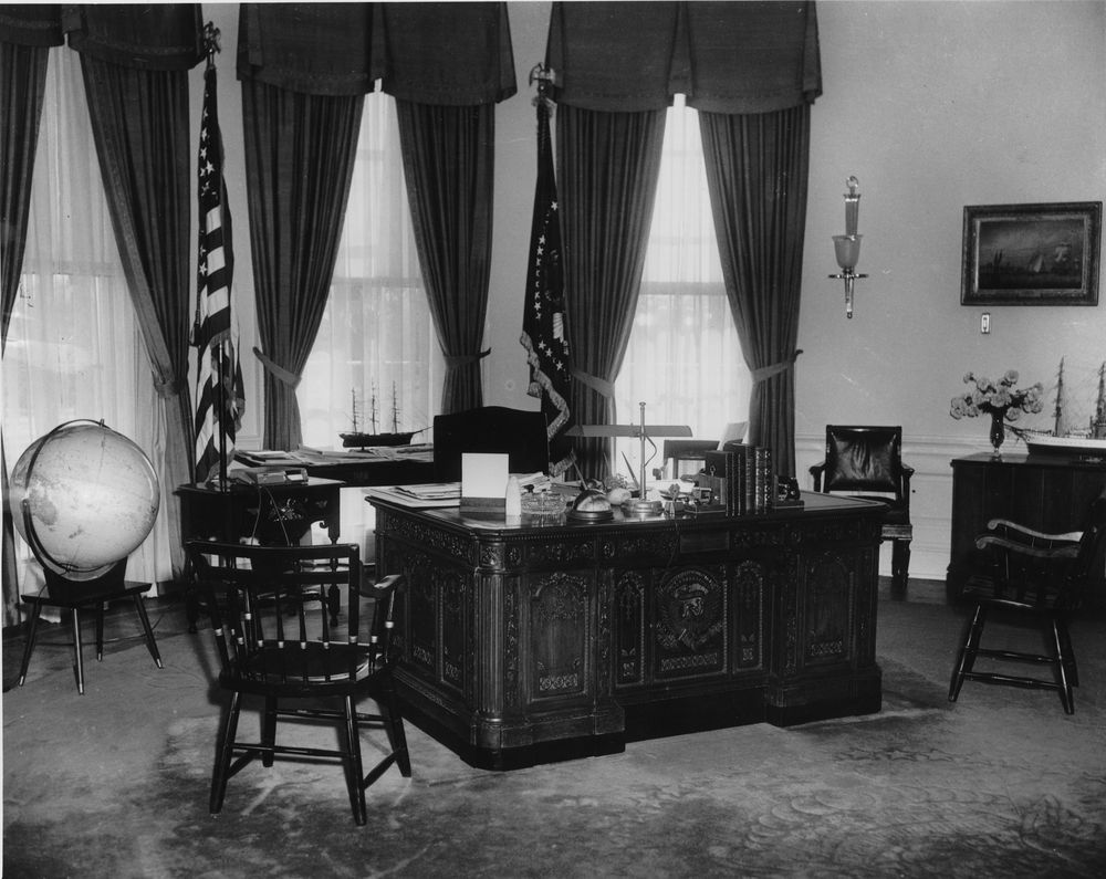 jfk in oval office. AR6333-W. Oval Office Jfk In S