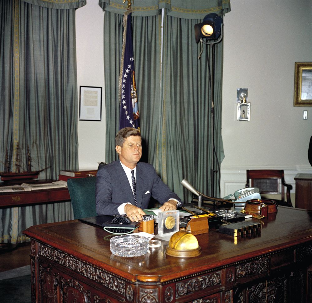 an analysis of the statement of president john f kennedy Full text and audio mp3 john f kennedy's civil rights address john f kennedy civil  one hundred years of delay have passed since president lincoln freed the.