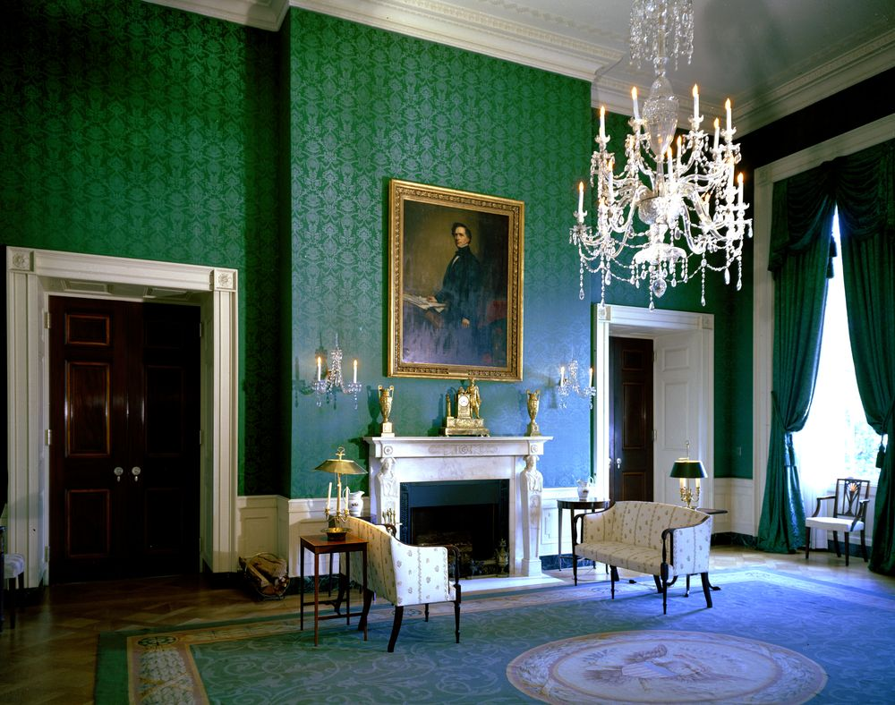White House Rooms Blue Green Red