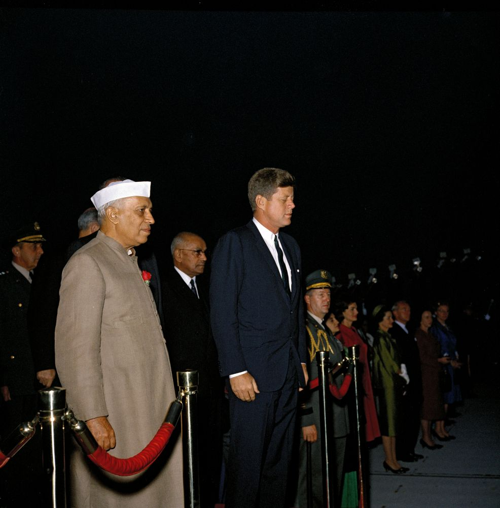 KN-C19371. President John F. Kennedy And Prime Minister Of
