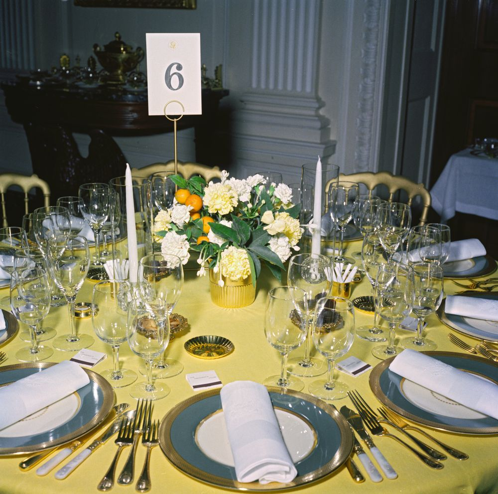 KN-C19448. Table Setting and Flower Arrangement for Private Dinner ...