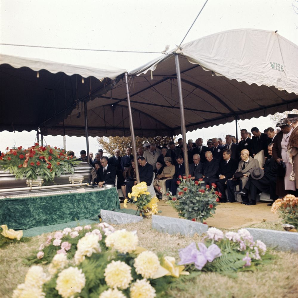 trip to western states  funeral services for speaker sam