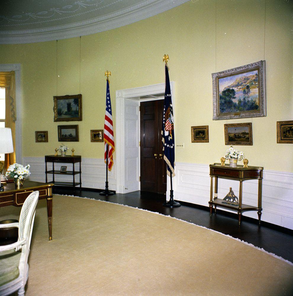 Kn C19639 Yellow Oval Room White House John F Kennedy