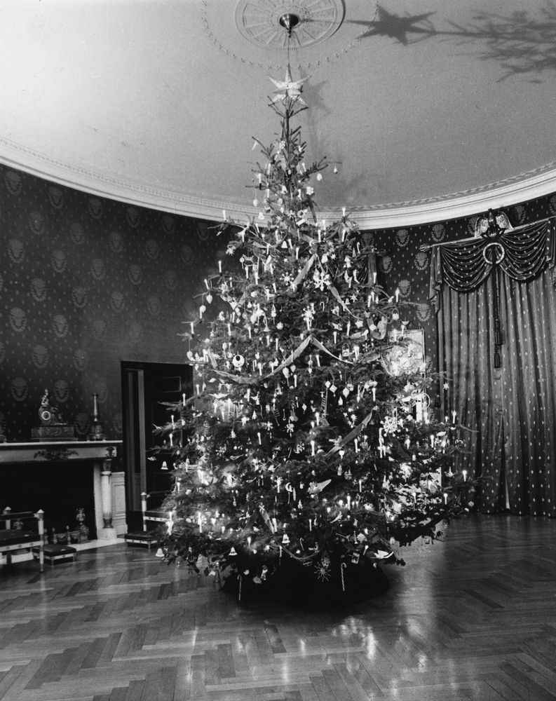 White House Christmas Decorations John F Kennedy