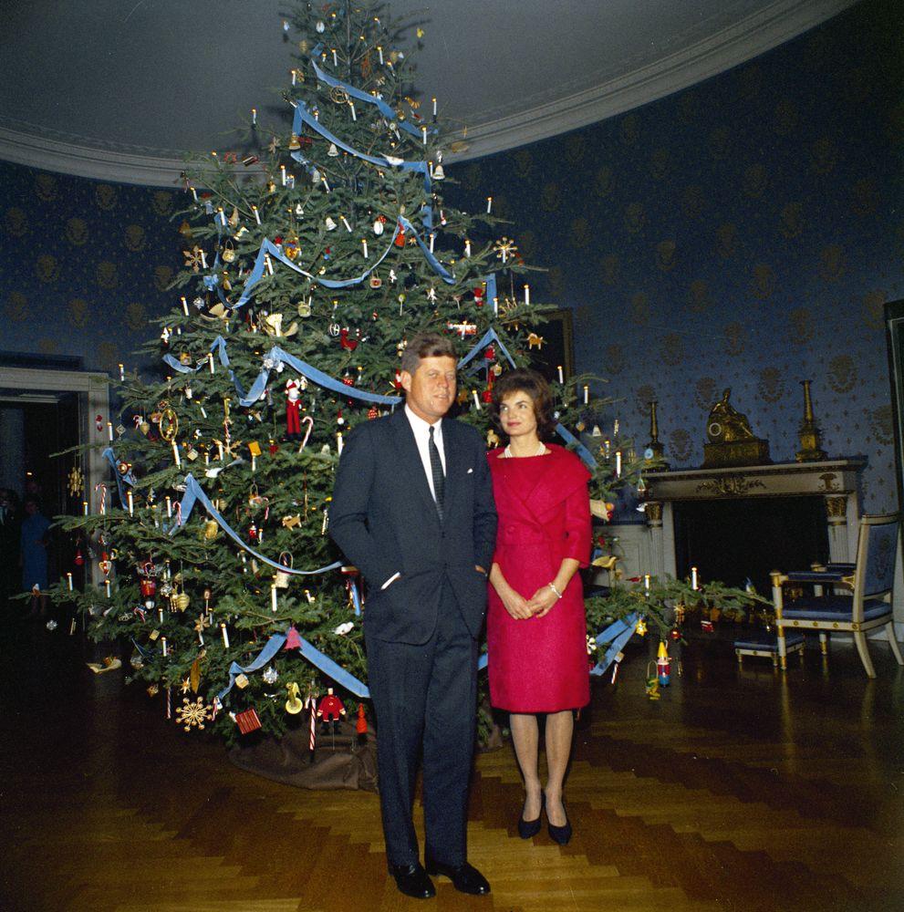 Kennedy Fir Christmas Tree: KN-C19678. President John F. Kennedy And First Lady