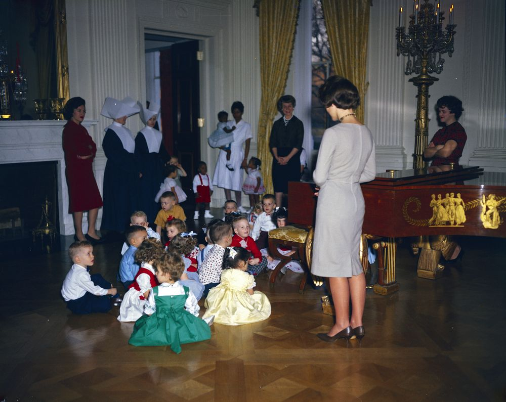 KN-C19750. White House Christmas Party for Children - John F ...