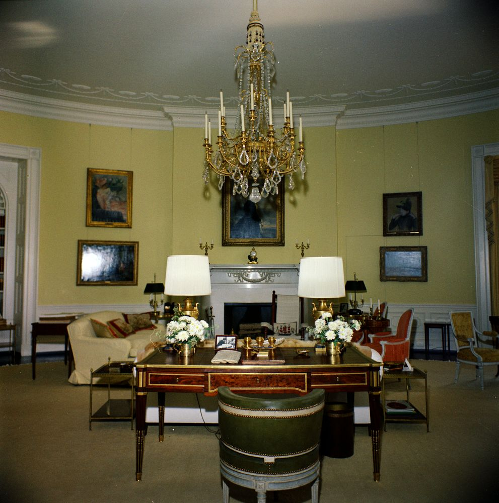 White House Rooms: Yellow Oval | JFK Library