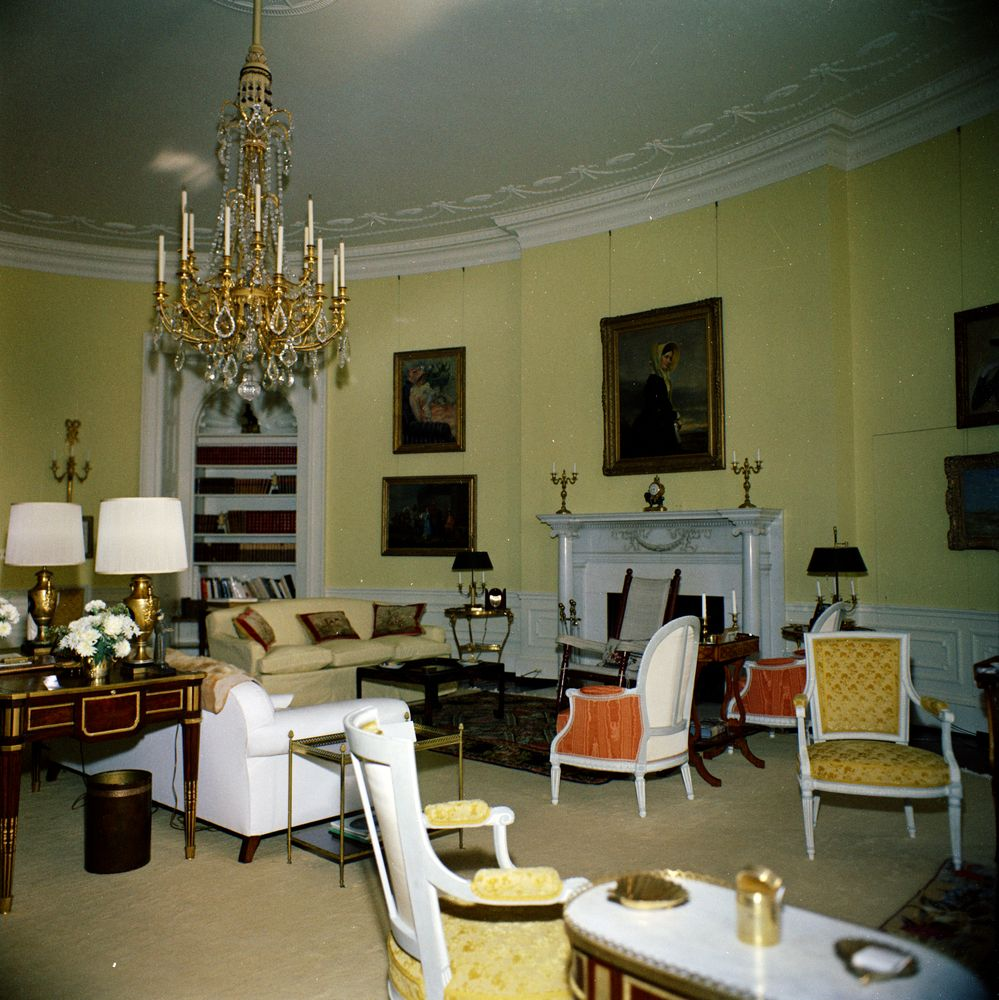 white house rooms  yellow oval